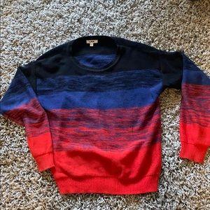 LNA rainbow knit sweater size Small